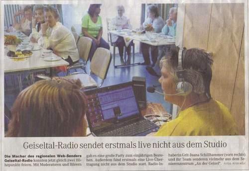Geiseltal-Radio sendet erstmals live nicht aus dem Studio